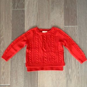 Cable Knit Red Sweater